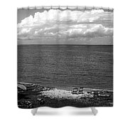 Summer At The Point Shower Curtain