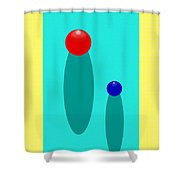 Summer Balls Red And Blue Shower Curtain