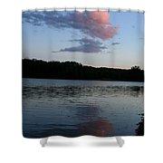 Summer Cloud Reflections Shower Curtain