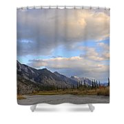 Summer Clouds Over Colin Mountain Shower Curtain