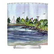 Summer Cove Shower Curtain