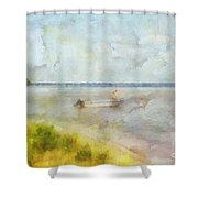 Summer Days At The Lake Shower Curtain
