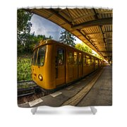 Summer Eveing Train. Shower Curtain