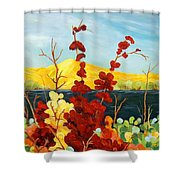 Summer Foliage Shower Curtain