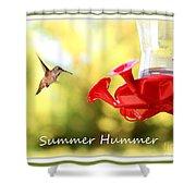 Summer Hummer Poster Shower Curtain
