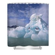 Summer Icebergs, Spitsbergen Island Shower Curtain