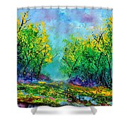 Summer In The Wood 452160 Shower Curtain
