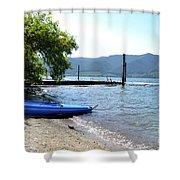 Summer Kayak Shower Curtain