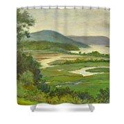 Summer Morning Hudson Highlands Shower Curtain
