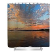 Summer Night At Sebago Lake Shower Curtain