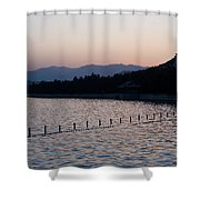 Summer Palace Serenity Shower Curtain by Mike Reid