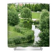 Summer Park In Belgium Shower Curtain