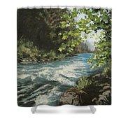 Summer River Shower Curtain