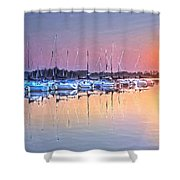 Summer Sails Reflections Shower Curtain