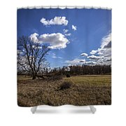 Summer Sky In The Fall Shower Curtain