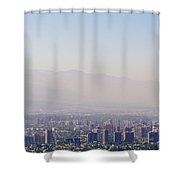 Summer Smog And Pollution In Santiagos Shower Curtain