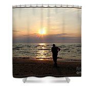 Summer Sunset Solitude Shower Curtain