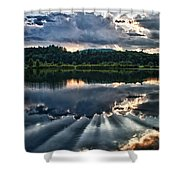 Summer Thunder Shower Curtain by Nathan Larson