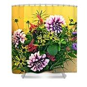 Summer To Autumn Bouquet Shower Curtain