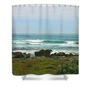 Summer Waters Aqua Shower Curtain