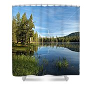 Summit Lake Shores Shower Curtain