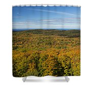 Summit Peak Autumn 12 Shower Curtain