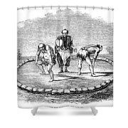 Sumo Wrestling, 1853 Shower Curtain