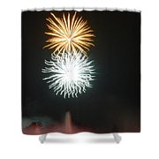 Sun And Moon At Night Shower Curtain