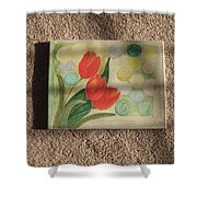 Sun And Tulips Shower Curtain