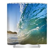 Sun And Wave Shower Curtain