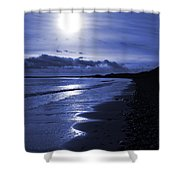 Sun At The Shore II Shower Curtain