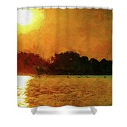 Sun Burned Shower Curtain