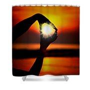 Sun Circle Shower Curtain