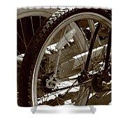 Sun Cruiser Wheels Shower Curtain