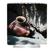Sun Dappled Pottery Shower Curtain