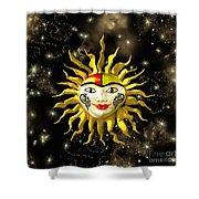 Sun Face  Shower Curtain