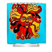 Sun God II Shower Curtain