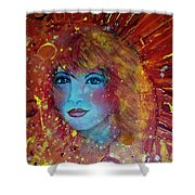 Sun Goddess Shower Curtain