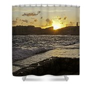 Sun Going Down Over Dubrovnik Shower Curtain
