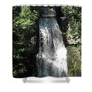 Sun On The Bushkill Falls  Shower Curtain