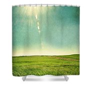 Sun Over Field Shower Curtain