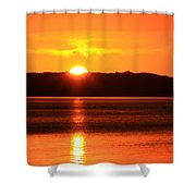 Sun Over Rotortua Nz Shower Curtain