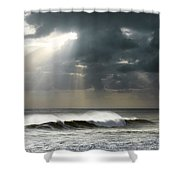 Sun Rays On Ocean Shower Curtain