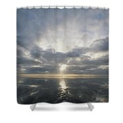 Sun Reflection Over Water, Wattenmeer Shower Curtain