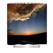 Sun Setting Behind The Horizon In Saskatchewan Shower Curtain