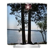 Sun Shining Through Trees Shower Curtain