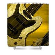 Sun Stained Yellow Electric Guitar Shower Curtain