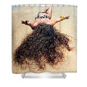 Sunbathing Woman Shower Curtain