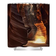 Sunbeam In Antelope Canyon Shower Curtain