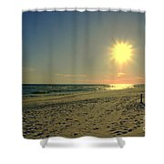 Sunburst At Henderson Beach Florida Shower Curtain by Susanne Van Hulst